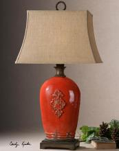 Uttermost 26348 - Mataline Crackled Red Lamp