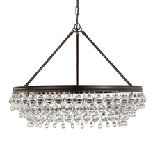 Crystorama Calypso Light Crystal Teardrop Vibrant Bronze - Chandelier crystals teardrop