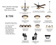 Lowe Lighting Center Items LLC-B1-BB - Basic Builder Package Bronze with Mist Scavo Glass
