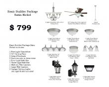 Lowe Lighting Center Items LLC-B1-SN - Basic Builder Package Satin Nickel