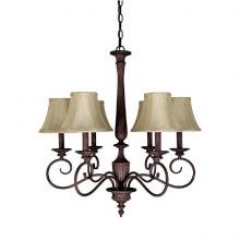 Capital 3146MZ-423 - Six Light Mediterranean Bronze Up Chandelier