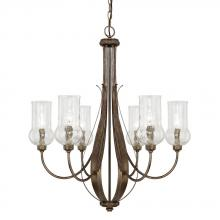 Capital 411661RT-322 - 6 Light Chandelier